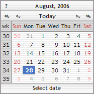 The DHTML / Javascript Calendar in action