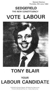 Tony Blair's Sedgefield election address, 1983